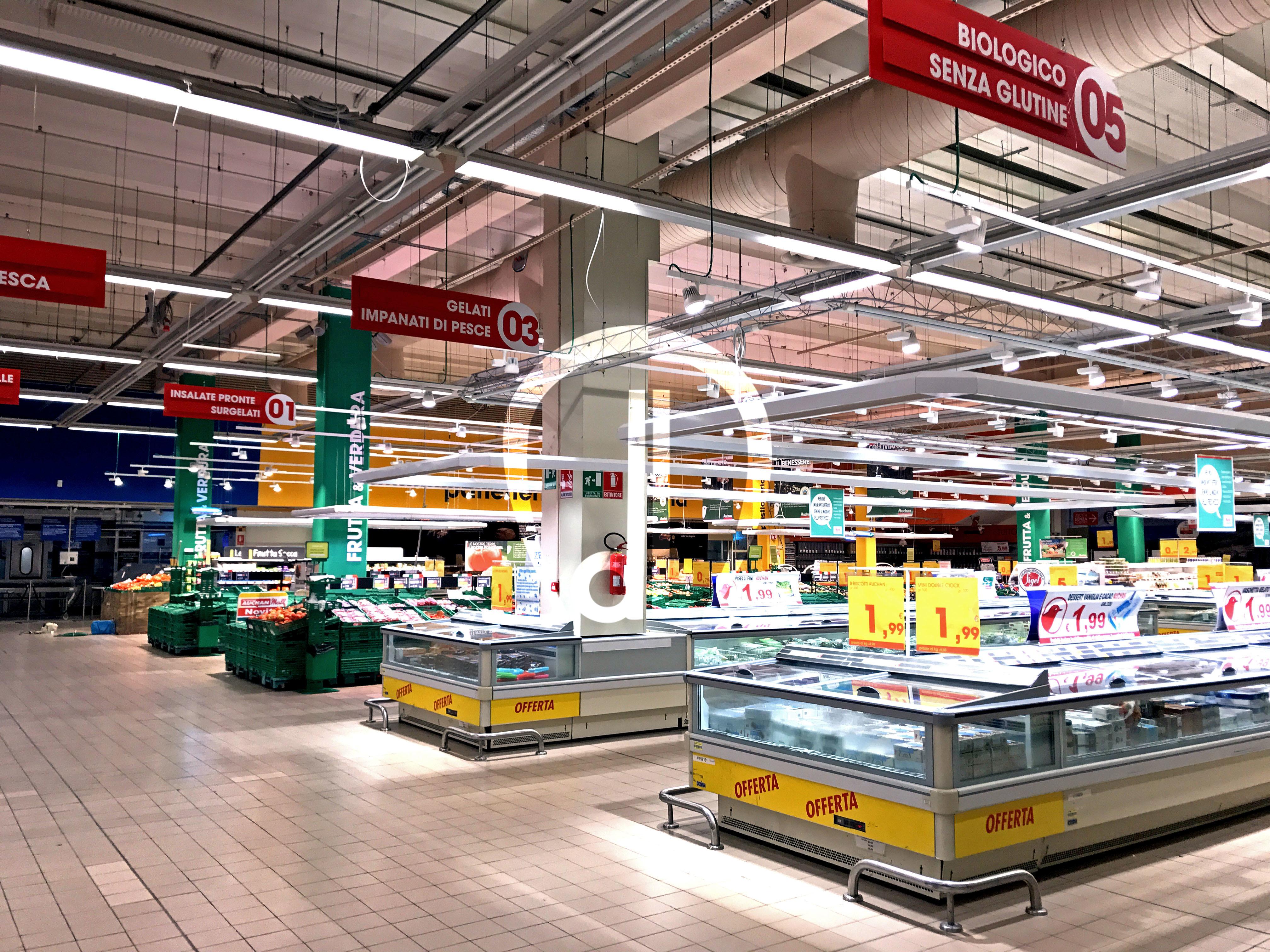 Relamping Ipermercato Auchan Cepagatti Dielle Impianti